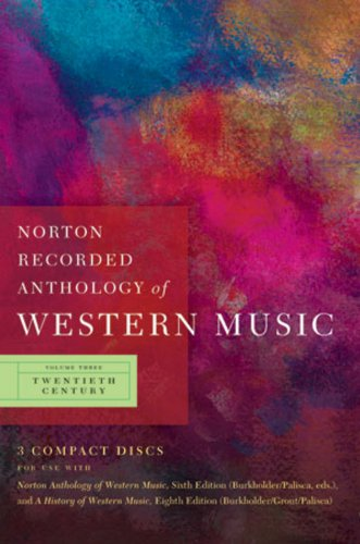 Norton Recorded Anthology of Western Music Twentieth Century 6th edition cover