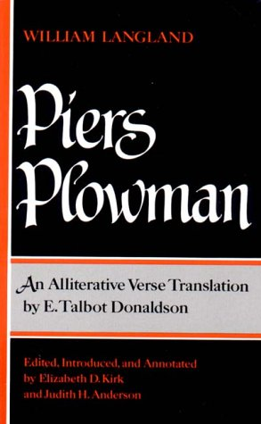 Piers Plowman An Alliterative Verse Translation by E Talbot Donaldson  1990 edition cover