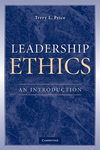 Leadership Ethics An Introduction  2009 edition cover
