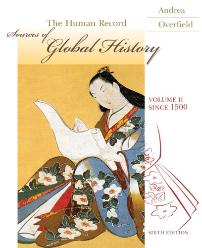 Human Record Sources of Global History, since 1500 6th 2009 edition cover
