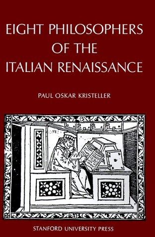 Eight Philosophers of the Italian Renaissance   1964 edition cover