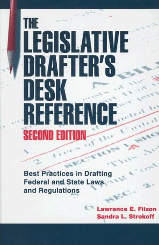 Legislative Drafter's Desk Reference  2nd 2006 (Revised) edition cover