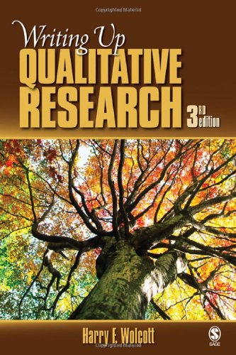 Writing up Qualitative Research  3rd 2009 edition cover