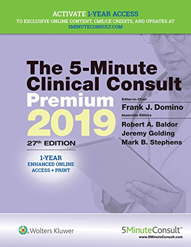 5-Minute Clinical Consult Premium 2019  27th 2020 (Revised) 9781975105112 Front Cover