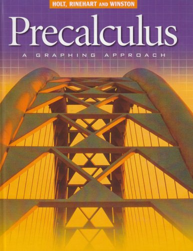 Precalculus : A Graphing Approach 2nd 9780030565113 Front Cover
