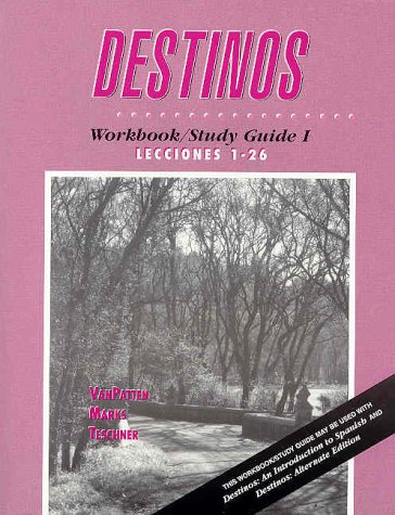 Fuw Destinos  2nd 2002 (Student Manual, Study Guide, etc.) 9780072497113 Front Cover