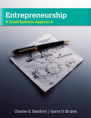 Entrepreneurship A Small Business Approach  2011 edition cover