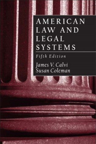 American Law and Legal Systems  5th 2004 (Revised) edition cover