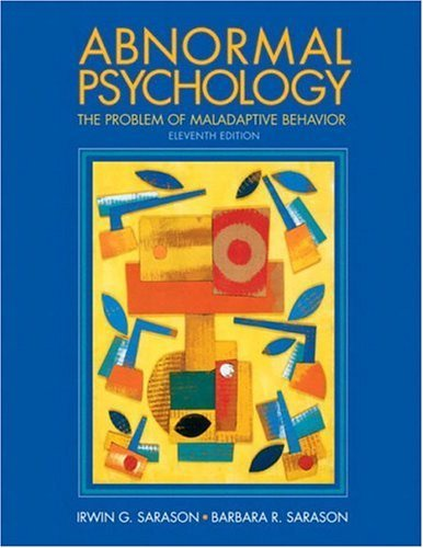 Abnormal Psychology The Problem of Maladaptive Behavior 11th 2005 edition cover