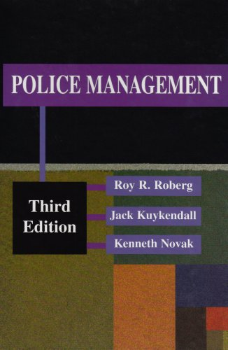Police Management  3rd 2002 edition cover
