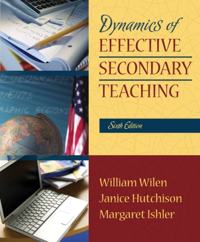 Dynamics of Effective Secondary Teaching  6th 2008 edition cover