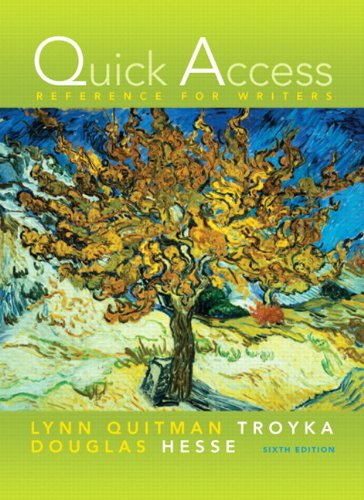 Quick Access Reference for Writers 6th 2010 9780205741113 Front Cover