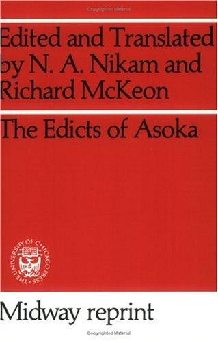 Edicts of Asoka   1959 edition cover
