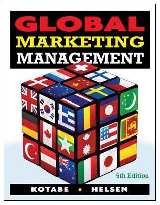 Global Marketing Management  5th 2010 edition cover
