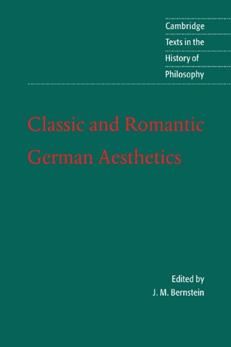 Classic and Romantic German Aesthetics   2002 edition cover