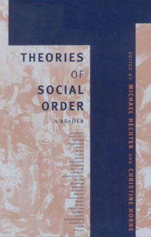 Theories of Social Order A Reader  2003 edition cover