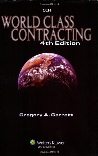 World Class Contracting  4th 2007 (Revised) edition cover