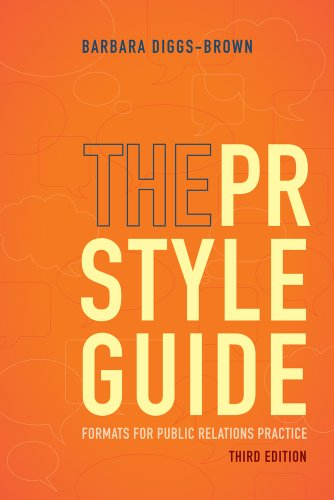 PR Styleguide Formats for Public Relations Practice 3rd 2013 edition cover