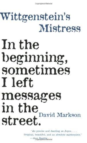Wittgenstein's Mistress  3rd 1995 (Reprint) edition cover