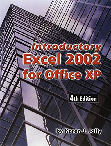 Introduction to Excel 2002 4th 2003 9781576761113 Front Cover