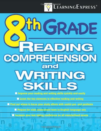 Eighth Grade Reading Comprehension and Writing Skills   2009 edition cover