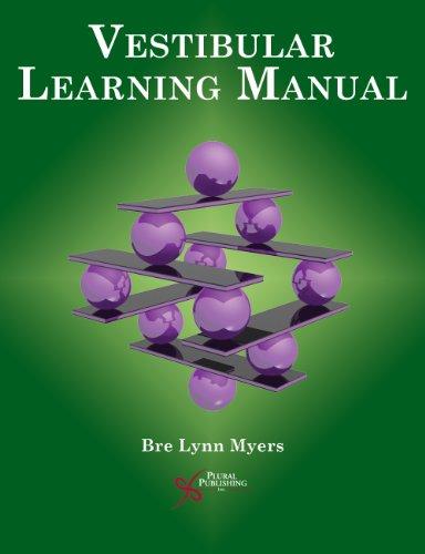 Vestibular Learning Manuall   2011 9781597564113 Front Cover