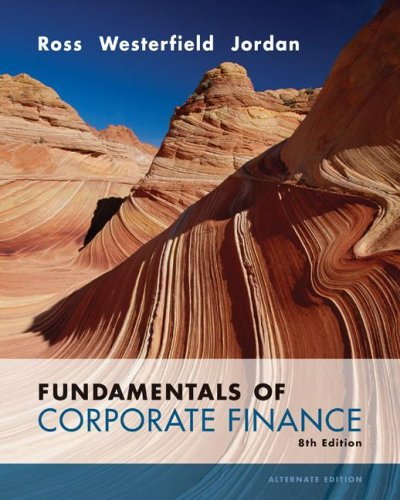 Fundamentals of Corporate Finance  8th 2008 (Alternate) edition cover