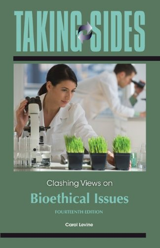 Clashing Views on Bioethical Issues  14th 2012 edition cover