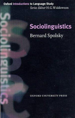 Sociolinguistics   1998 edition cover