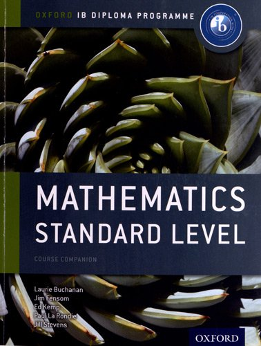 Mathematics Standard Level   2012 9780198390114 Front Cover