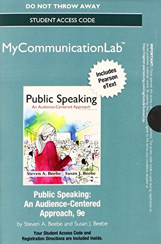 NEW MyCommunicationLab with Pearson EText -- Standalone Access Card -- for Public Speaking An Audience-Centered Approach 9th 2015 edition cover