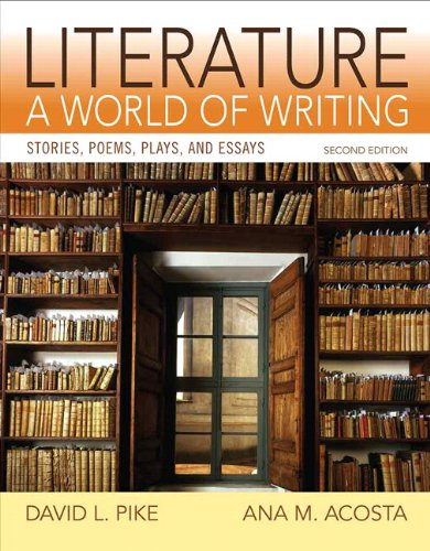 Literature A World of Writing 2nd 2013 edition cover