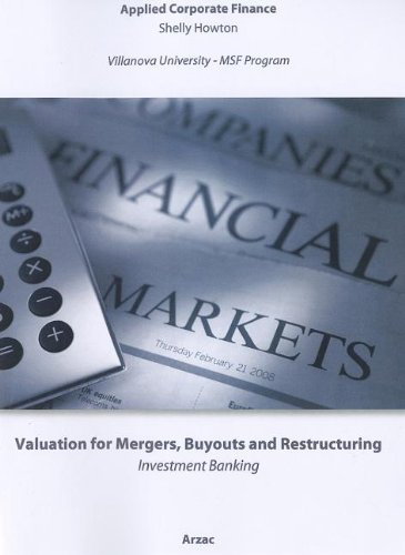 Valuation : Mergers, Buyouts and Restructuring 2nd 2011 9780470735114 Front Cover