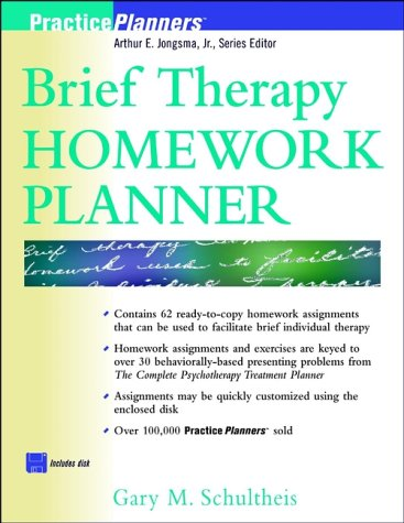 Brief Therapy Homework Planner  1st 1998 edition cover