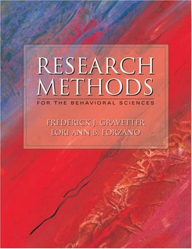 Research Methods for the Behavioral Sciences With Infotrac  2003 9780534549114 Front Cover