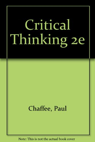 Critical Thinking, Thoughtful Writing A Rhetoric with Readings 2nd 2002 9780618124114 Front Cover