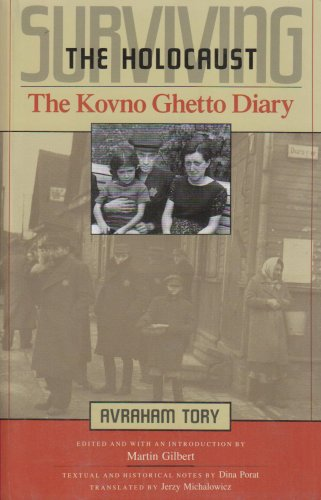 Surviving the Holocaust The Kovno Ghetto Diary  1990 edition cover