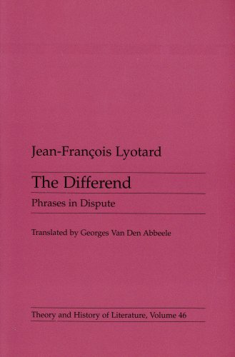 Differend Phrases in Dispute  1988 edition cover