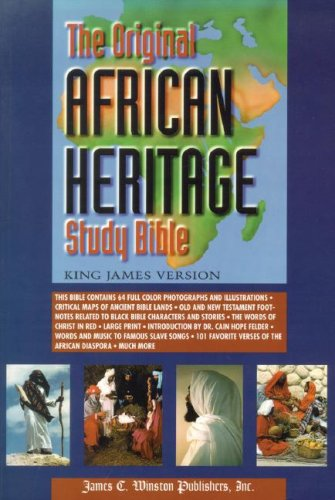 Original African Heritage Study Bible-KJV   2006 (Large Type) edition cover