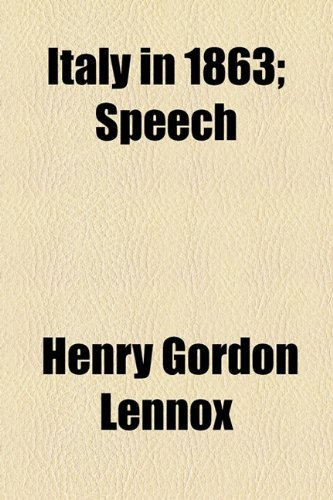 Italy in 1863; Speech  2010 edition cover