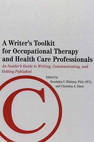 WRITER'S TOOLKIT F/OCCUPATION.THERAPY.. N/A 9781569003114 Front Cover