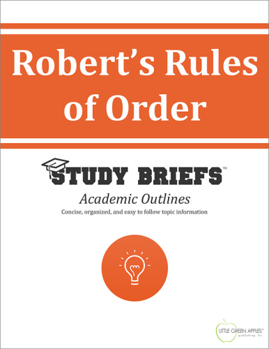 Robert's Rules of Order   2015 9781634260114 Front Cover