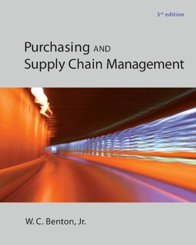 Purchasing and Supply Chain Management:   2013 edition cover
