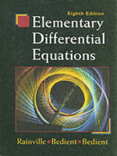 Elementary Differential Equations  8th 1997 (Revised) edition cover