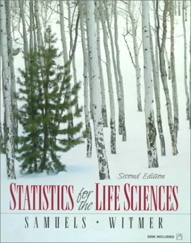 Statistics for Life Sciences  2nd 1999 edition cover
