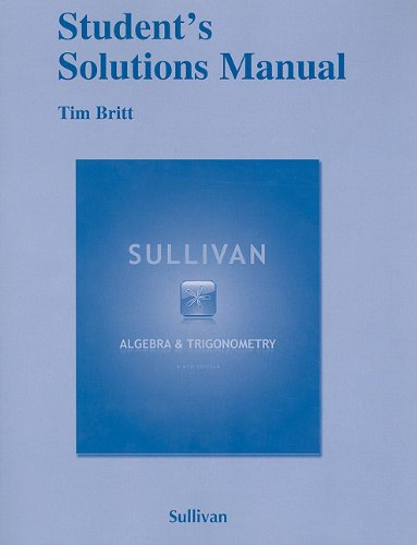 Student Solutions Manual for Algebra and Trigonometry  9th 2012 (Revised) edition cover
