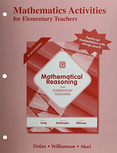 Mathematics Activities for Elementary Teachers  7th 2015 edition cover