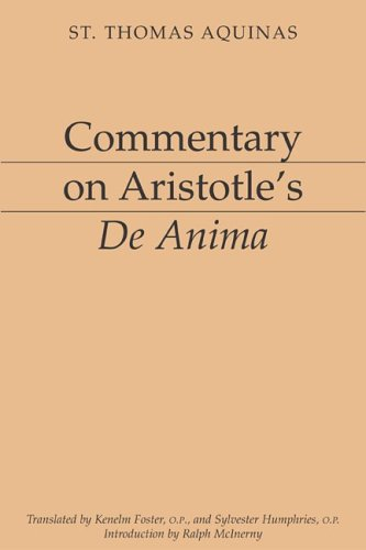 Commentary on Aristotle's de Anima  1994 9781883357115 Front Cover