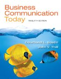 Business Communicaton Today  12th 2015 edition cover