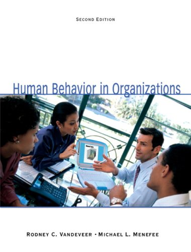 Human Behavior in Organizations  2nd 2010 edition cover